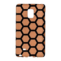 Hexagon2 Black Marble & Natural Red Birch Wood (r) Galaxy Note Edge by trendistuff