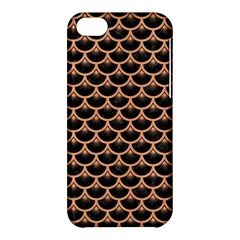 Scales3 Black Marble & Natural Red Birch Wood Apple Iphone 5c Hardshell Case by trendistuff