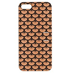 Scales3 Black Marble & Natural Red Birch Wood (r) Apple Iphone 5 Hardshell Case With Stand by trendistuff