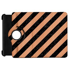 Stripes3 Black Marble & Natural Red Birch Wood Kindle Fire Hd 7  by trendistuff