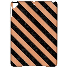 Stripes3 Black Marble & Natural Red Birch Wood (r) Apple Ipad Pro 9 7   Hardshell Case by trendistuff