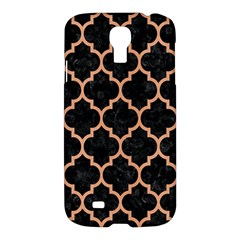 Tile1 Black Marble & Natural Red Birch Wood Samsung Galaxy S4 I9500/i9505 Hardshell Case by trendistuff
