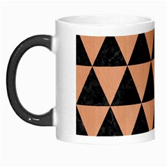 Triangle3 Black Marble & Natural Red Birch Wood Morph Mugs by trendistuff