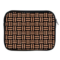 Woven1 Black Marble & Natural Red Birch Wood Apple Ipad 2/3/4 Zipper Cases by trendistuff