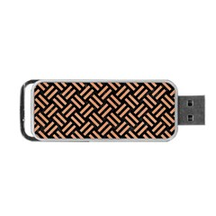 Woven2 Black Marble & Natural Red Birch Wood Portable Usb Flash (two Sides) by trendistuff