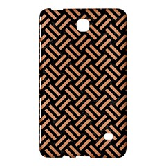 Woven2 Black Marble & Natural Red Birch Wood Samsung Galaxy Tab 4 (8 ) Hardshell Case  by trendistuff