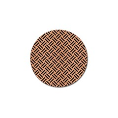 Woven2 Black Marble & Natural Red Birch Wood (r) Golf Ball Marker (10 Pack) by trendistuff