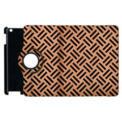 Woven2 Black Marble & Natural Red Birch Wood (r) Apple Ipad 3/4 Flip 360 Case by trendistuff