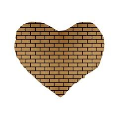 Brick1 Black Marble & Natural White Birch Wood (r) Standard 16  Premium Heart Shape Cushions by trendistuff