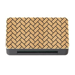 Brick2 Black Marble & Natural White Birch Wood (r) Memory Card Reader With Cf by trendistuff