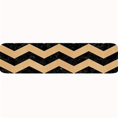 Chevron3 Black Marble & Natural White Birch Wood Large Bar Mats by trendistuff
