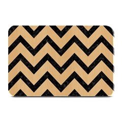 Chevron9 Black Marble & Natural White Birch Wood (r) Plate Mats by trendistuff