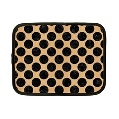 Circles2 Black Marble & Natural White Birch Wood (r) Netbook Case (small)  by trendistuff