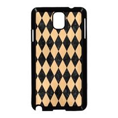 Diamond1 Black Marble & Natural White Birch Wood Samsung Galaxy Note 3 Neo Hardshell Case (black) by trendistuff