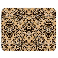 Damask1 Black Marble & Natural White Birch Wood (r) Double Sided Flano Blanket (medium)  by trendistuff