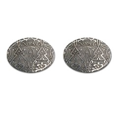 Art Nouveau Silver Cufflinks (oval) by 8fugoso