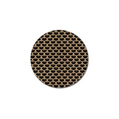 Scales3 Black Marble & Natural White Birch Wood Golf Ball Marker (10 Pack) by trendistuff