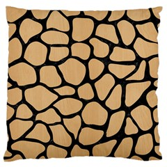 Skin1 Black Marble & Natural White Birch Wood Standard Flano Cushion Case (two Sides) by trendistuff