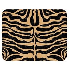 Skin2 Black Marble & Natural White Birch Wood Double Sided Flano Blanket (medium)  by trendistuff