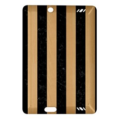 Stripes1 Black Marble & Natural White Birch Wood Amazon Kindle Fire Hd (2013) Hardshell Case by trendistuff