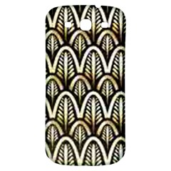 Art Deco Gold Black Shell Pattern Samsung Galaxy S3 S Iii Classic Hardshell Back Case by 8fugoso