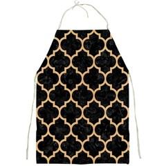 Tile1 Black Marble & Natural White Birch Wood Full Print Aprons by trendistuff