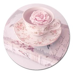 Shabby Chic High Tea Magnet 5  (round) by 8fugoso