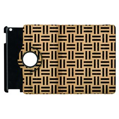 Woven1 Black Marble & Natural White Birch Wood (r) Apple Ipad 3/4 Flip 360 Case by trendistuff