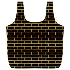 Brick1 Black Marble & Orange Colored Pencil Full Print Recycle Bags (l)  by trendistuff
