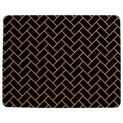 Brick2 Black Marble & Orange Colored Pencil Jigsaw Puzzle Photo Stand (rectangular) by trendistuff