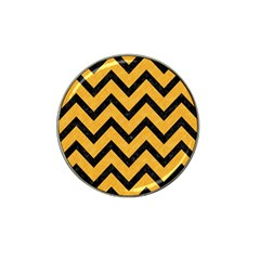 Chevron9 Black Marble & Orange Colored Pencil (r) Hat Clip Ball Marker (10 Pack) by trendistuff