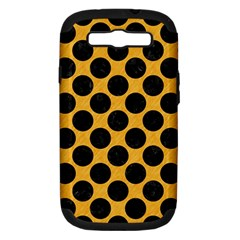 Circles2 Black Marble & Orange Colored Pencil (r) Samsung Galaxy S Iii Hardshell Case (pc+silicone) by trendistuff