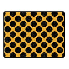 Circles2 Black Marble & Orange Colored Pencil (r) Double Sided Fleece Blanket (small)  by trendistuff