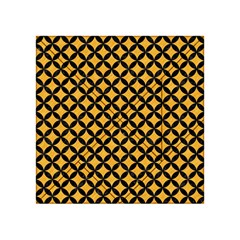 Circles3 Black Marble & Orange Colored Pencil (r) Acrylic Tangram Puzzle (4  X 4 ) by trendistuff
