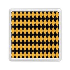 Diamond1 Black Marble & Orange Colored Pencil Memory Card Reader (square)  by trendistuff