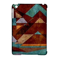 Turquoise And Bronze Triangle Design With Copper Apple Ipad Mini Hardshell Case (compatible With Smart Cover) by theunrulyartist