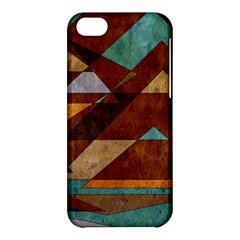 Turquoise And Bronze Triangle Design With Copper Apple Iphone 5c Hardshell Case by theunrulyartist
