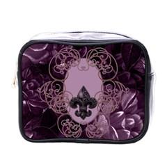 Soft Violett Floral Design Mini Toiletries Bags by FantasyWorld7