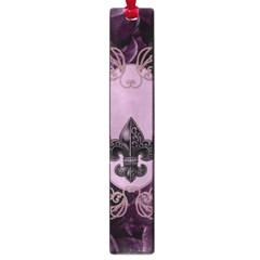 Soft Violett Floral Design Large Book Marks by FantasyWorld7