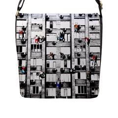 Jump, Jump Flap Messenger Bag (l)  by Valentinaart