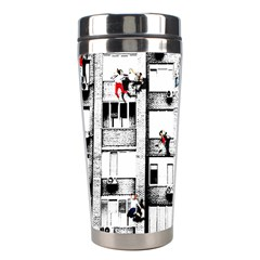 Jump, Jump Stainless Steel Travel Tumblers by Valentinaart