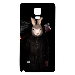 Evil Rabbit Galaxy Note 4 Back Case by Valentinaart