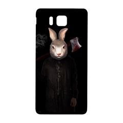 Evil Rabbit Samsung Galaxy Alpha Hardshell Back Case by Valentinaart
