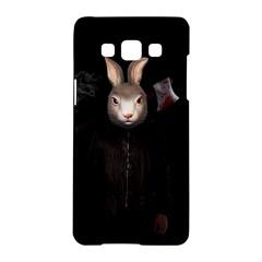 Evil Rabbit Samsung Galaxy A5 Hardshell Case  by Valentinaart