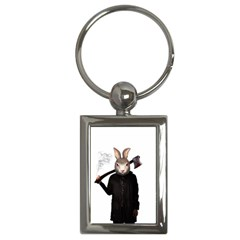 Evil Rabbit Key Chains (rectangle)  by Valentinaart