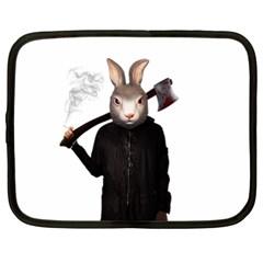 Evil Rabbit Netbook Case (xxl)  by Valentinaart