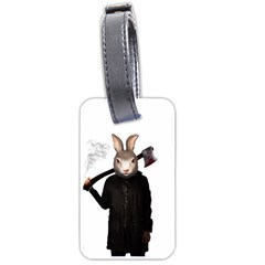 Evil Rabbit Luggage Tags (one Side)  by Valentinaart