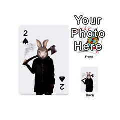 Evil Rabbit Playing Cards 54 (mini)  by Valentinaart