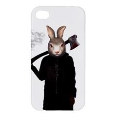 Evil Rabbit Apple Iphone 4/4s Premium Hardshell Case by Valentinaart