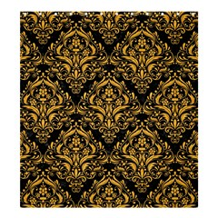 Damask1 Black Marble & Orange Colored Pencil Shower Curtain 66  X 72  (large)  by trendistuff